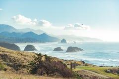 Angenehme Ansicht über blauen Golf Stockbilder