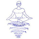 Angenehme Meditation Stockfotografie