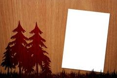 Angenehmes Holz auf hölzernem Hintergrund mit Seite - 2 Lizenzfreies Stockbild