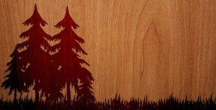 Angenehmes Holz auf hölzernem Hintergrund - Version 2 Lizenzfreie Stockfotografie