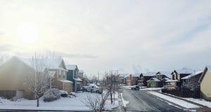 Angenehmes Leben hellen Schnees Sun Stockbild