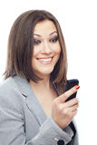 Angenehmes SMS Stockfotos