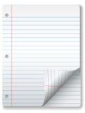 Angeordnete Notizbuch-Papier-Seiten-Rotation lizenzfreie abbildung
