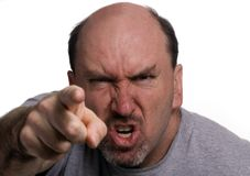Anger 2. A 40 something man, in a rage during an argument Royalty Free Stock Images