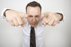 Anger 2. A 25 something man, in a rage during an argument Royalty Free Stock Photos