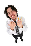 Anger. Businessman clenching his teeth in anger royalty free stock photography