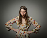 Anger. Angry young woman. Emotions royalty free stock images
