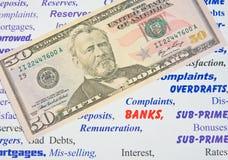 Anger at the banks. Royalty Free Stock Photo