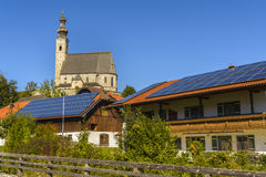 Anger, bavarian village. Bavarian architecture with the famous church from the Anger village on October 1, 2015 in Germany Stock Images