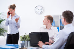Anger business discussion Stock Images