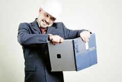 Anger businessman Stock Image