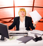 Anger businesswoman Royalty Free Stock Images