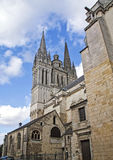 Anger Cathedral. Cathedral in Anger france in portrait style Stock Photography