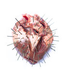 Anger heart Stock Images