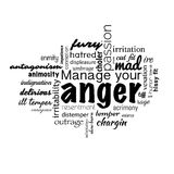 Anger management banner. Anger management text banner made in vector Stock Photography