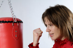 Anger management and business Royalty Free Stock Images