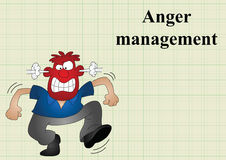 Anger management Royalty Free Stock Images