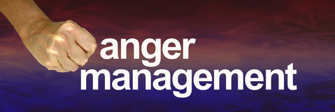 Anger Management hot to cool banner Royalty Free Stock Images