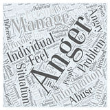 Anger Management Information word cloud concept  background Stock Image