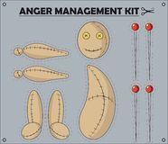 Anger Management Kit Royalty Free Stock Images