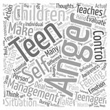 Anger Management for Teen Children word cloud concept vector background Royalty Free Stock Photography