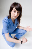 Anger nurse Royalty Free Stock Photo