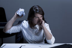 Anger in the office Stock Photos