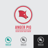 Anger Pig pork logo template Stock Photography
