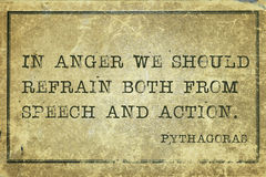 In anger Pyth Stock Image