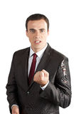 Anger screaming business men Royalty Free Stock Images