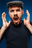The anger and screaming man Stock Images