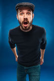 The anger and screaming man Royalty Free Stock Image
