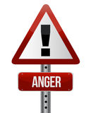 Anger sign royalty free illustration
