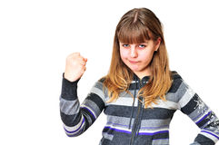 Anger teen girl Stock Photography