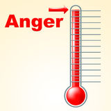 Anger Thermometer Indicates Cross Irritated And Temperature Royalty Free Stock Image