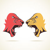 Anger Tiger face icon illustration Stock Image