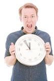 Anger time (spinning watch hands version) Royalty Free Stock Images