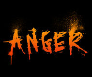 Anger. Typography illustration of the word Anger Stock Photos