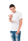 Anger young man Stock Images