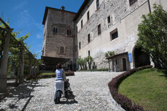Angera Castle - Fortress (Rocca Borromea) Royalty Free Stock Photography