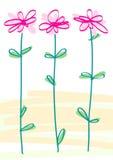 Angeredete Blumen Stockfotos