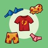 Angeredete Kleidung, Spielelemente, Schnittstelle Stockbilder