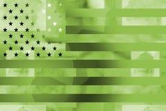 Angeredete Militäramerikanische Flagge Lizenzfreie Stockfotografie