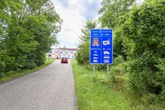 Free ANGERN AN DER MARCH, AUSTRIA – JULY 21 2020: Big Blue Board With Information About Toll Sticker And Digital Vignette Device On Royalty Free Stock Photos - 197500418