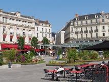 Angers, πόλης κέντρο, θερινή διακόσμηση, τον Ιούλιο του 2013 Στοκ Φωτογραφίες