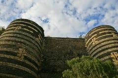 Angers Castle, πόλη της Angers, Maine-et-Loire, Γαλλία Στοκ φωτογραφία με δικαίωμα ελεύθερης χρήσης