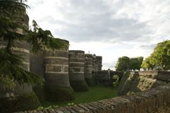 Angers Castle, πόλη της Angers, Maine-et-Loire, Γαλλία Στοκ Φωτογραφίες