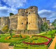 Angers Castle στην κοιλάδα της Loire, Γαλλία Στοκ Εικόνες