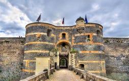 Angers Castle στην κοιλάδα της Loire, Γαλλία Στοκ Φωτογραφία