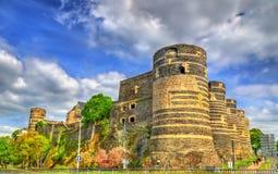 Angers Castle στην κοιλάδα της Loire, Γαλλία Στοκ Εικόνα